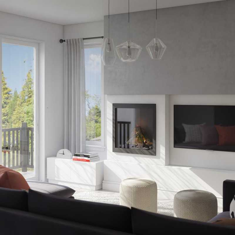 Contemporary, Modern, Eclectic, Bohemian, Glam, Scandinavian Living Room Design by Havenly Interior Designer Kylie