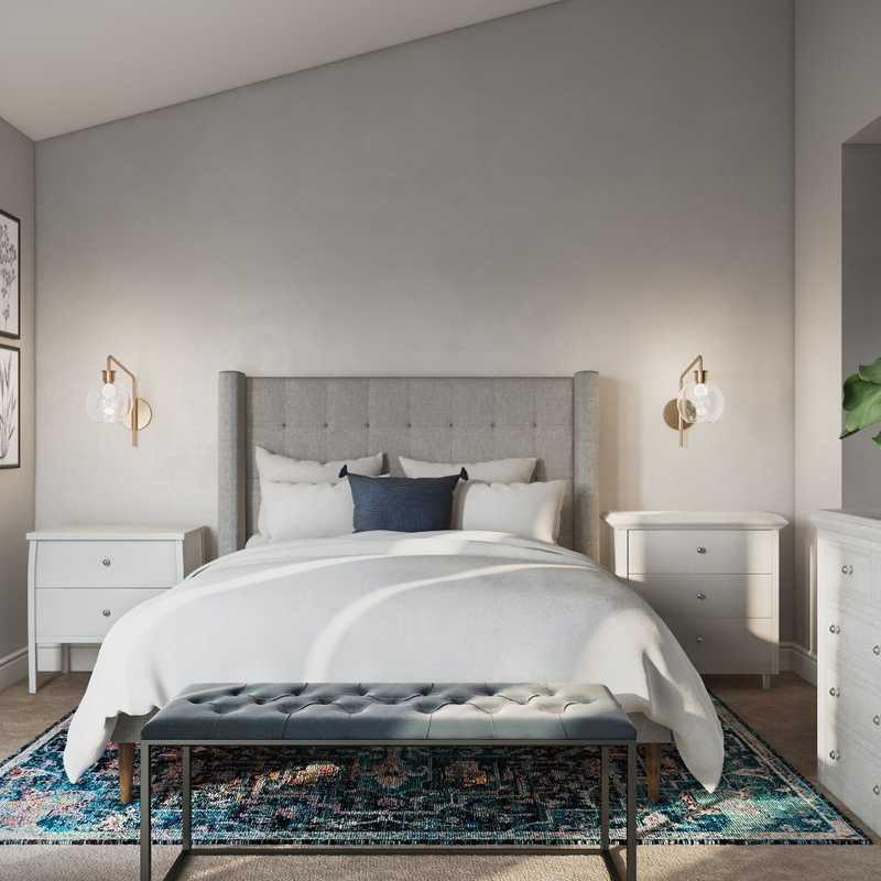 Classic, Farmhouse Bedroom Design by Havenly Interior Designer Allison