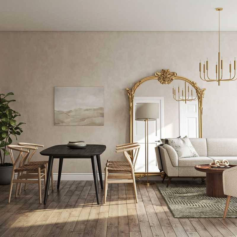 Rustic, Transitional Living Room Design by Havenly Interior Designer Gonzalo