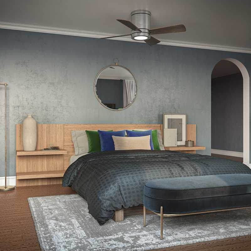 Modern, Classic, Eclectic, Bohemian, Glam, Global, Midcentury Modern Bedroom Design by Havenly Interior Designer Marina