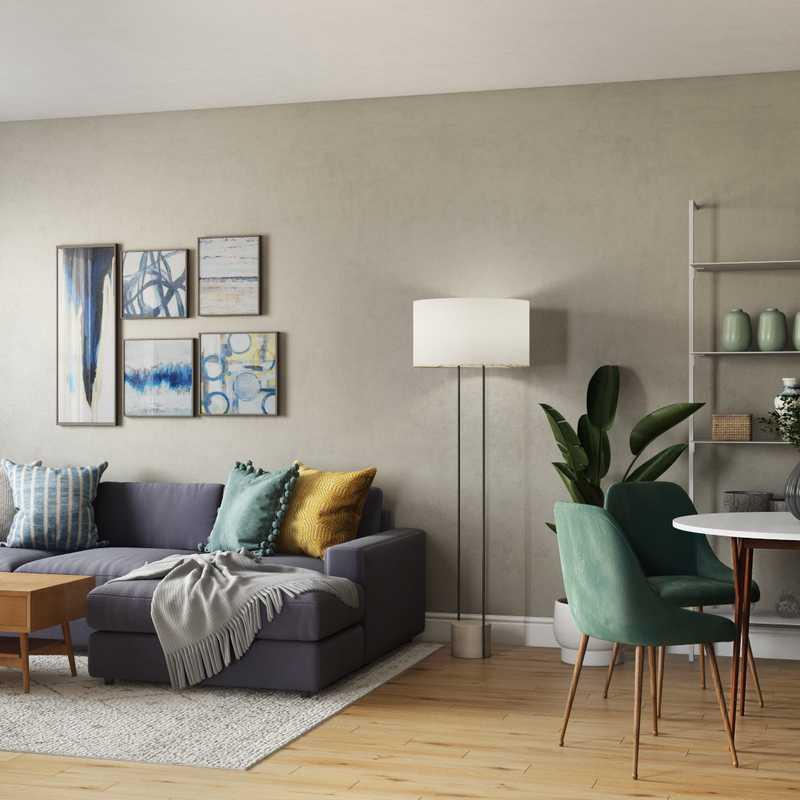Scandinavian Living Room Design by Havenly Interior Designer Abril