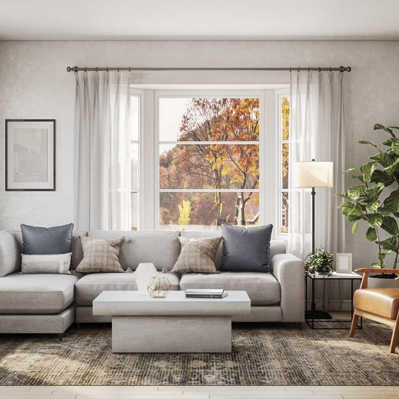 Modern, Classic Living Room Design by Havenly Interior Designer Maria