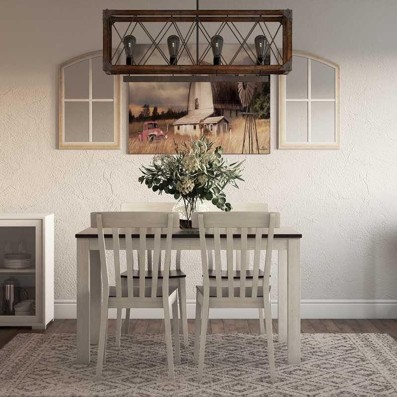 Classic, Farmhouse Living Room Design by Havenly Interior Designer Austin