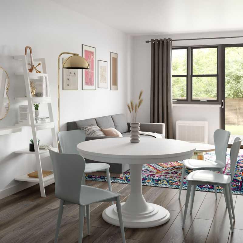 Modern, Eclectic, Bohemian, Midcentury Modern Living Room Design by Havenly Interior Designer Christina
