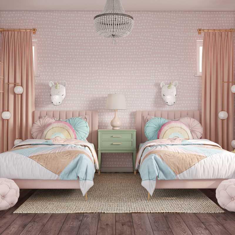 Bohemian, Midcentury Modern Bedroom Design by Havenly Interior Designer Mariela