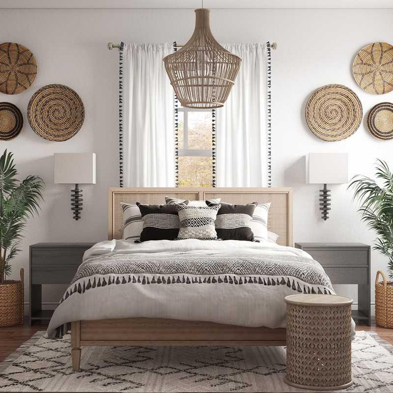 Modern, Bohemian Office Design by Havenly Interior Designer Ashlyn
