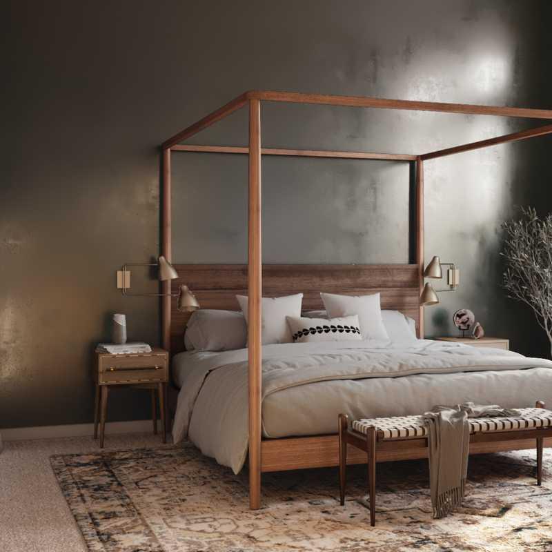 Modern, Eclectic Bedroom Design by Havenly Interior Designer Astrid