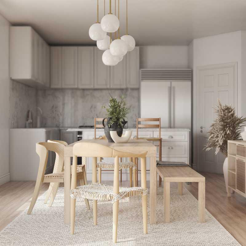 Bohemian, Coastal, Scandinavian Dining Room Design by Havenly Interior Designer Astrid