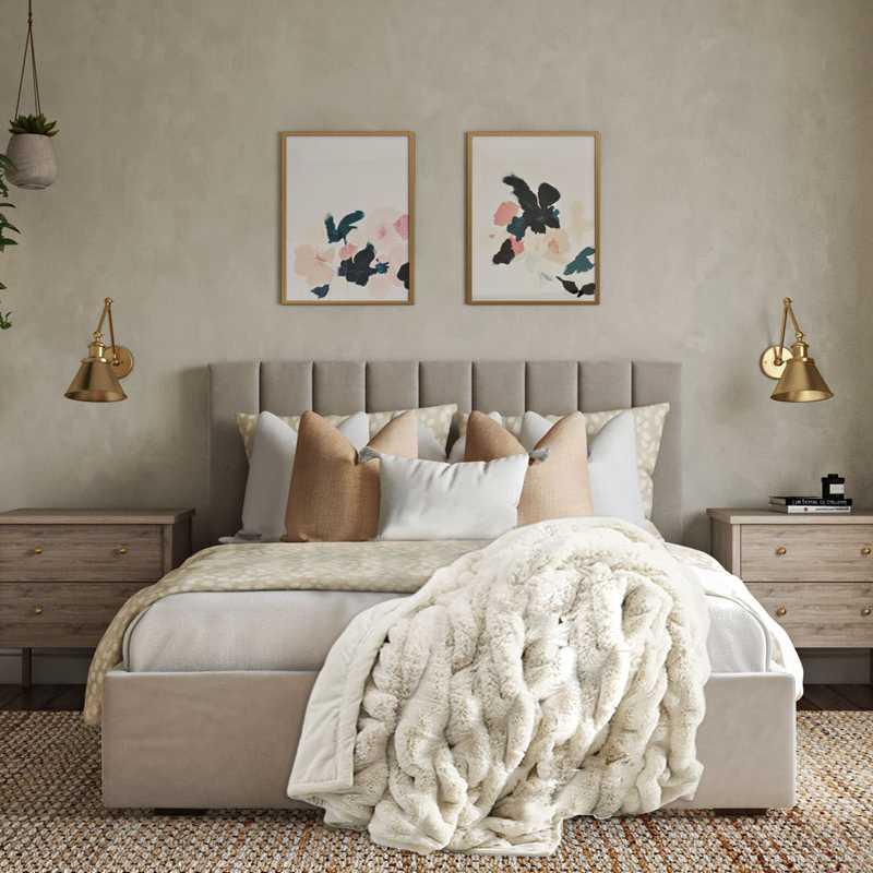 Coastal, Glam Bedroom Design by Havenly Interior Designer Nicole