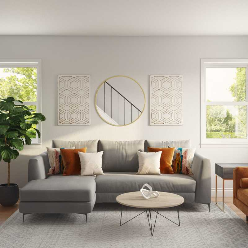 Bohemian Living Room Design by Havenly Interior Designer Kylie