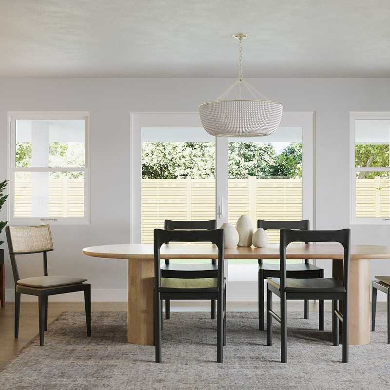 Contemporary, Modern, Bohemian, Coastal, Midcentury Modern, Classic Contemporary, Scandinavian Dining Room Design by Havenly Interior Designer Lisa
