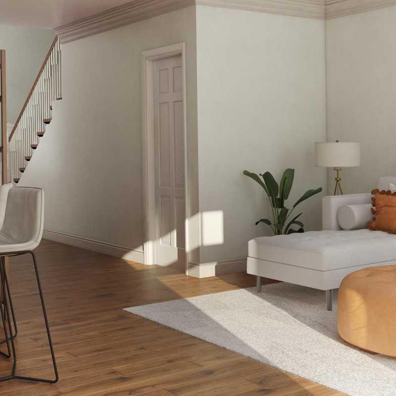 Bohemian, Midcentury Modern, Minimal Living Room Design by Havenly Interior Designer Julia