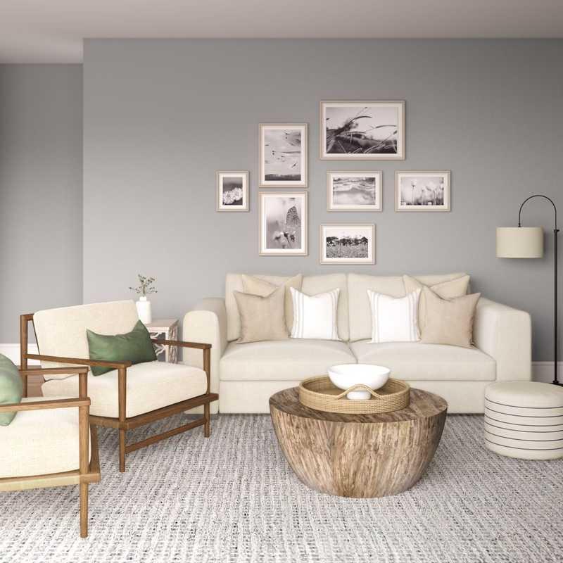 Contemporary, Farmhouse, Transitional Living Room Design by Havenly Interior Designer Elizabeth