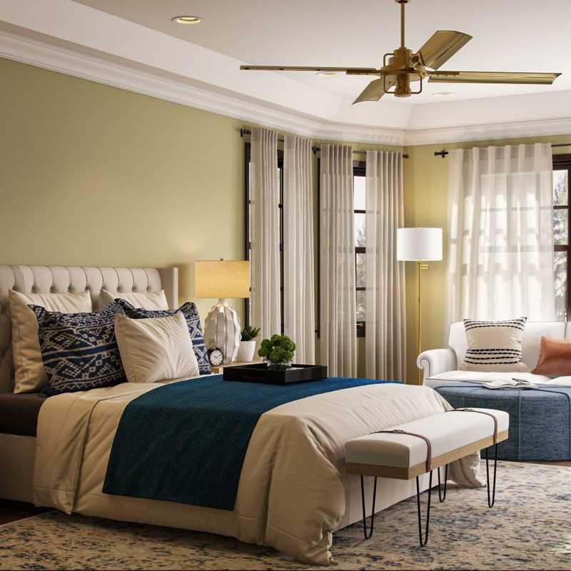 Contemporary, Classic, Coastal, Farmhouse, Transitional Bedroom Design by Havenly Interior Designer Lisa
