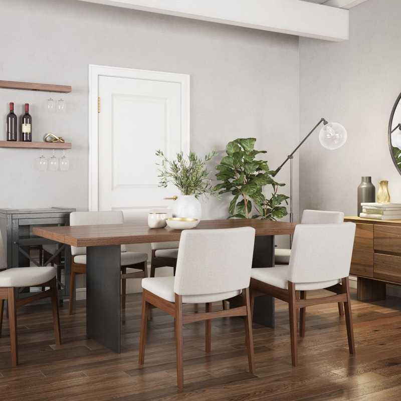 Modern, Midcentury Modern Dining Room Design by Havenly Interior Designer Astrid