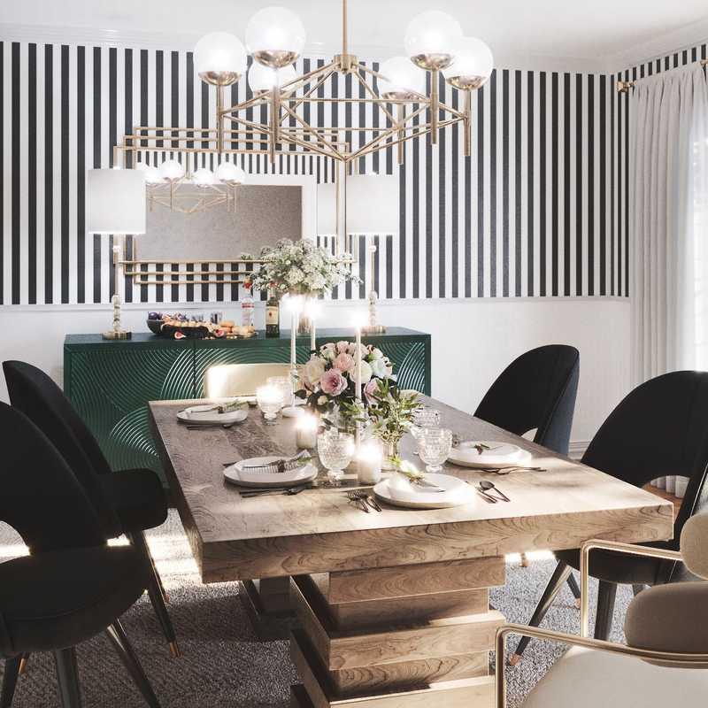 Glam Dining Room Design by Havenly Interior Designer Sara