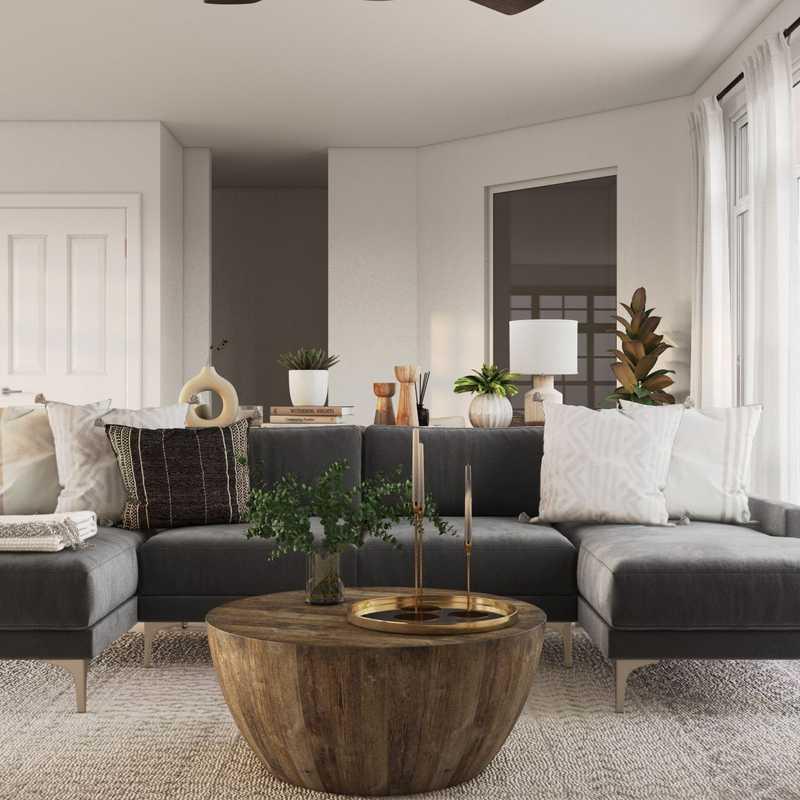 Modern, Classic, Coastal Living Room Design by Havenly Interior Designer Athina