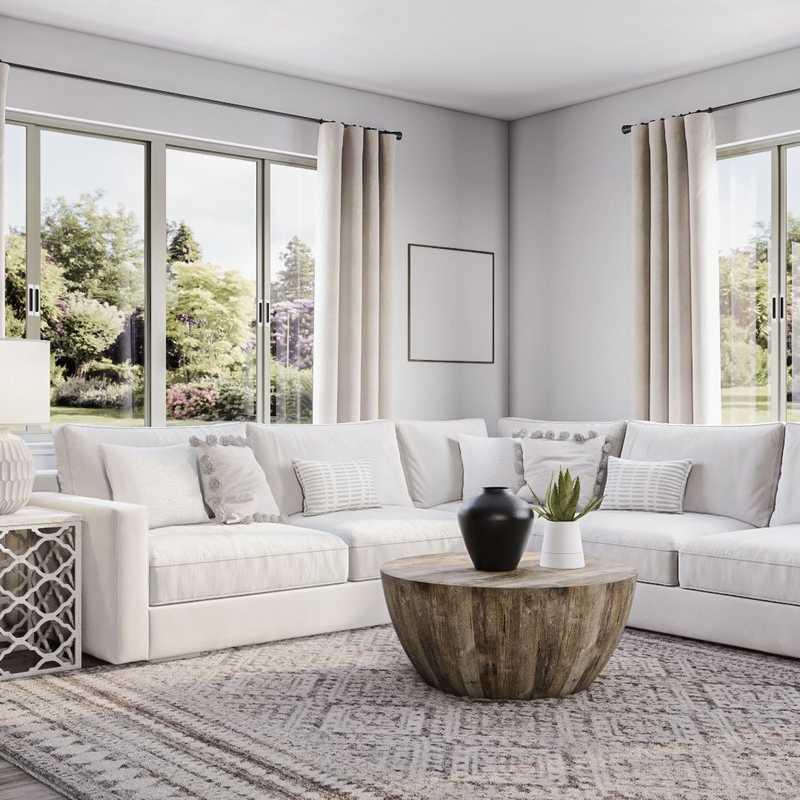 Transitional Living Room Design by Havenly Interior Designer Elizabeth