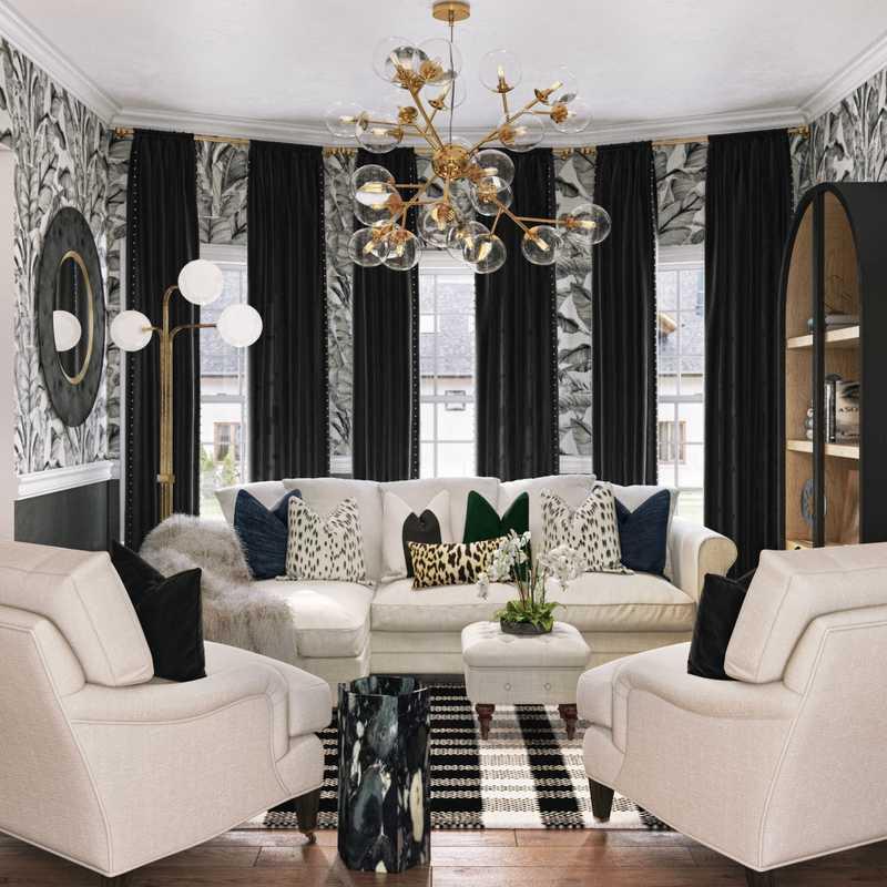 Contemporary, Modern, Glam Dining Room Design by Havenly Interior Designer Melisa
