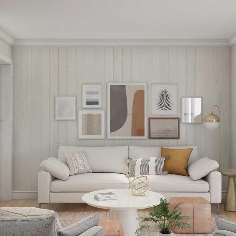 Modern, Rustic Living Room Design by Havenly Interior Designer Jessie