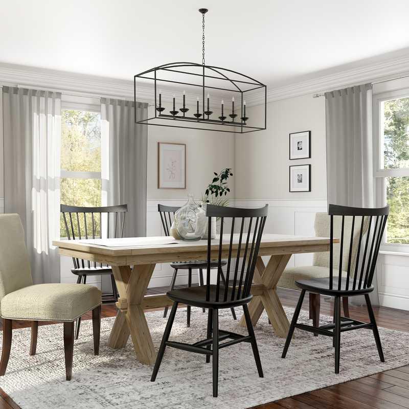 Modern, Farmhouse, Rustic Dining Room Design by Havenly Interior Designer Amelia