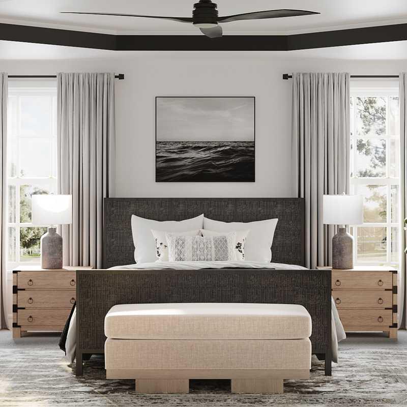 Modern, Bohemian Bedroom Design by Havenly Interior Designer Shauna