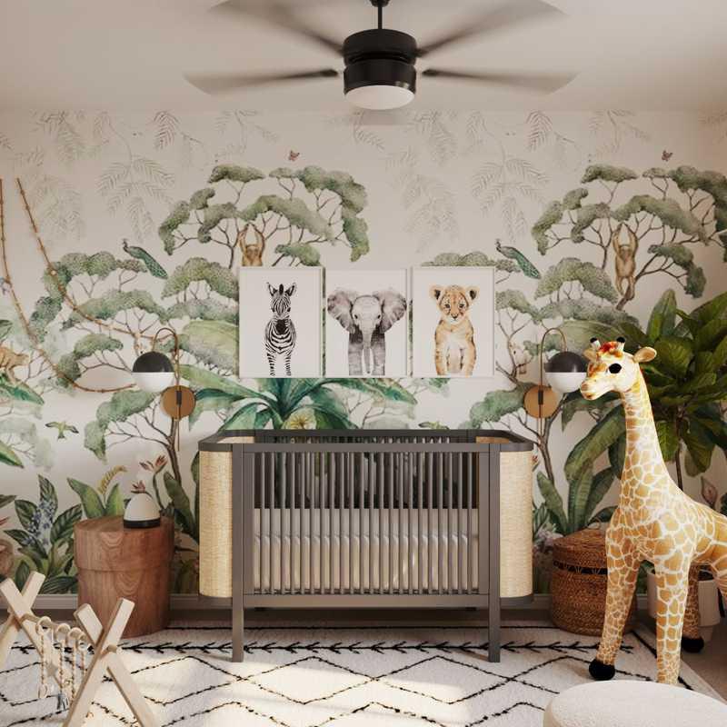 Modern, Bohemian Nursery Design by Havenly Interior Designer Astrid