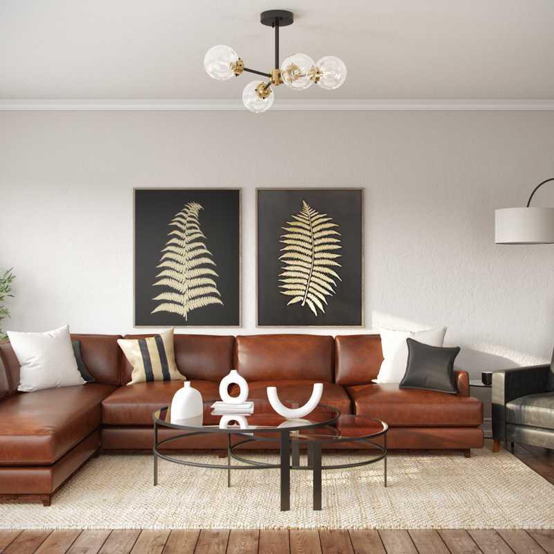 Contemporary, Modern, Midcentury Modern, Minimal, Scandinavian Living Room Design by Havenly Interior Designer Nicole