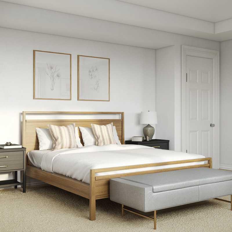 Eclectic, Bohemian, Coastal Bedroom Design by Havenly Interior Designer Anny