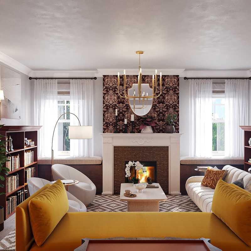 Modern, Glam, Minimal Living Room Design by Havenly Interior Designer Carla