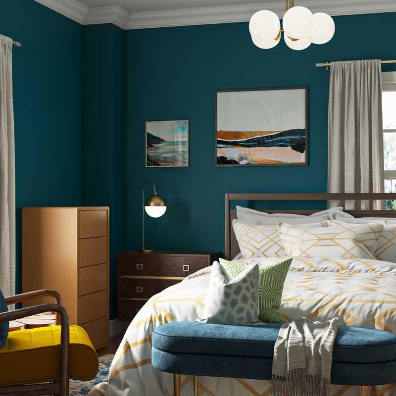 Modern, Bohemian, Glam Bedroom Design by Havenly Interior Designer Samantha