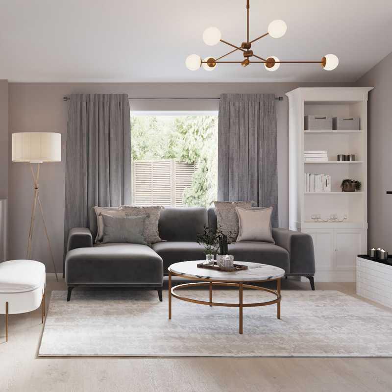 Contemporary, Modern Living Room Design by Havenly Interior Designer Athina
