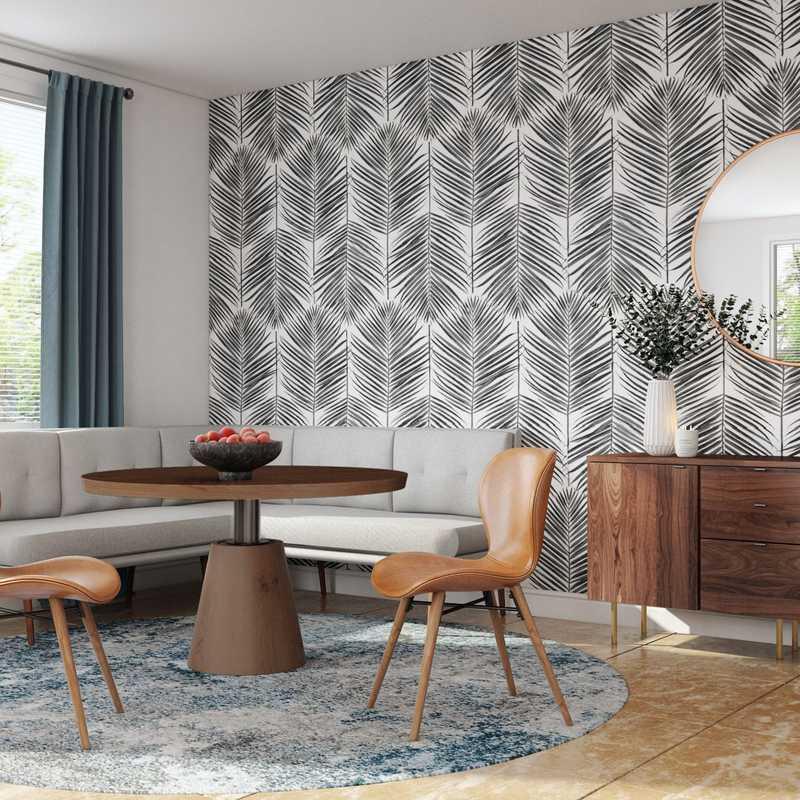 Contemporary, Midcentury Modern Dining Room Design by Havenly Interior Designer Anny