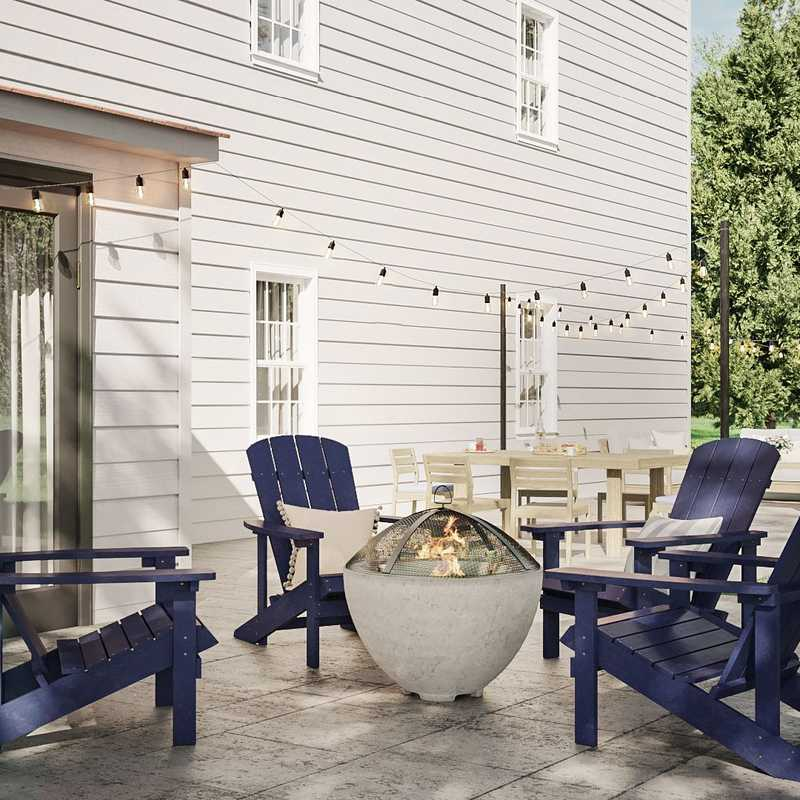 Classic, Traditional Outdoor Space Design by Havenly Interior Designer Sara