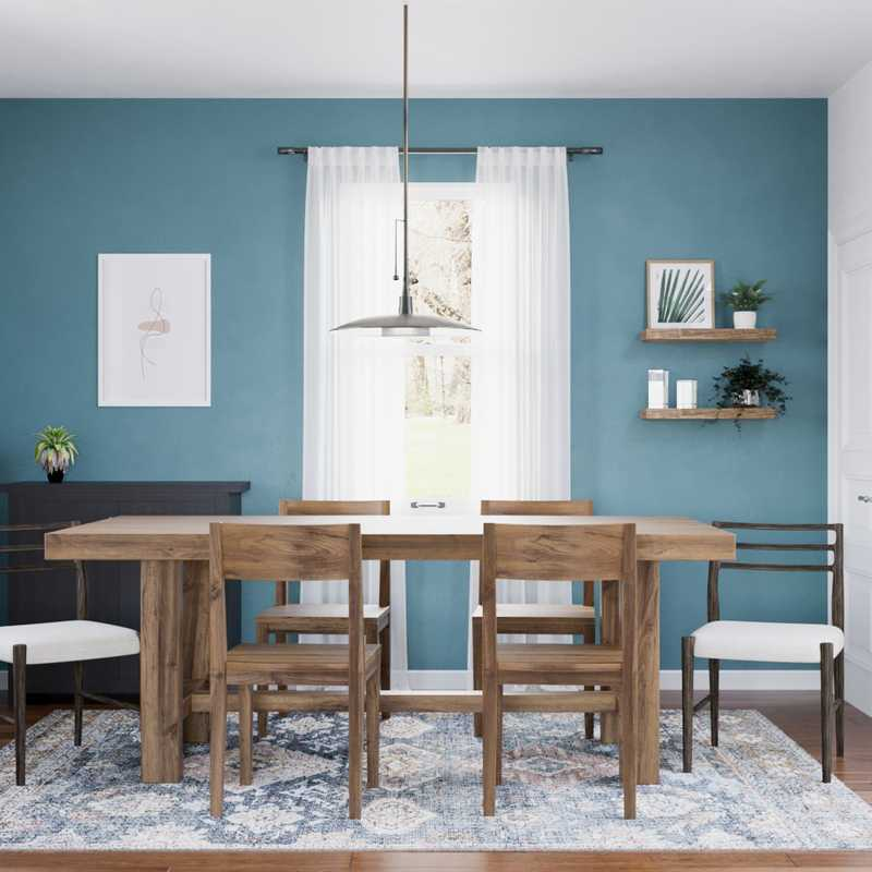 Modern, Eclectic, Bohemian Dining Room Design by Havenly Interior Designer Paige