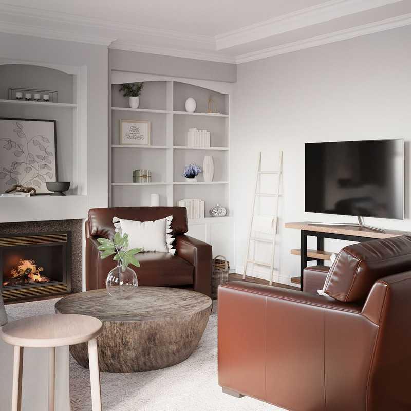Farmhouse, Rustic, Scandinavian Living Room Design by Havenly Interior Designer Nicole