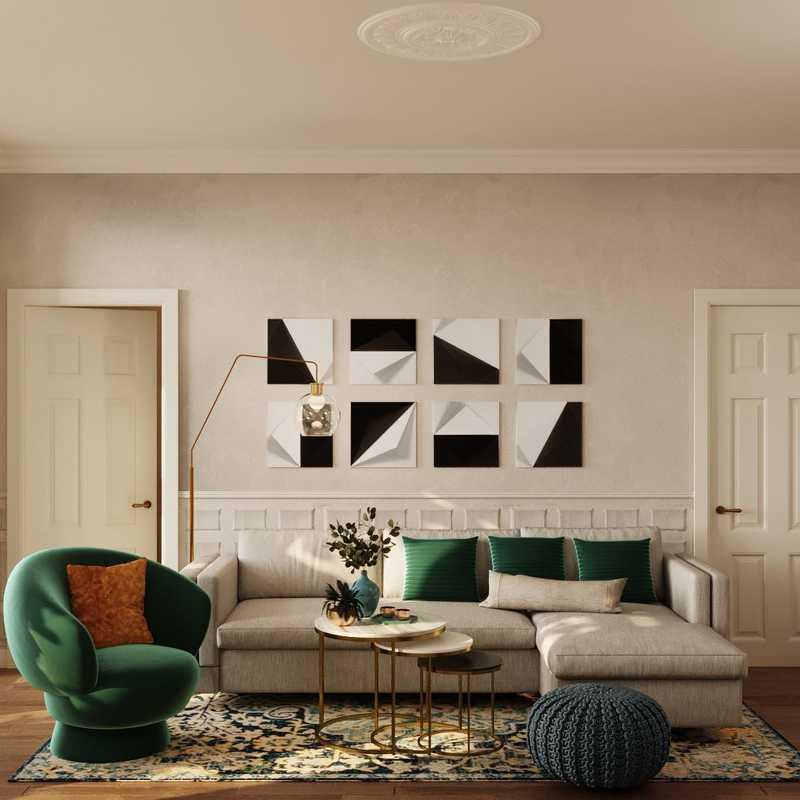 Modern, Glam Living Room Design by Havenly Interior Designer Francisco