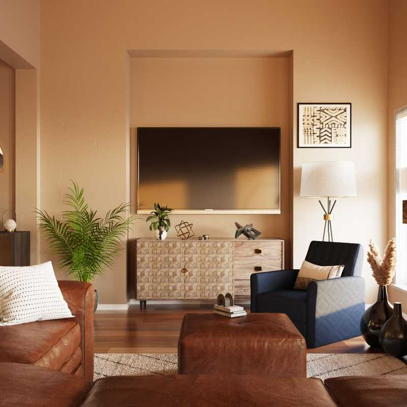 Modern, Classic, Eclectic Living Room Design by Havenly Interior Designer Xiaoxiao