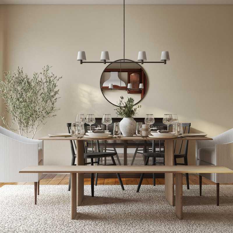 Modern, Bohemian, Coastal, Industrial, Farmhouse Dining Room Design by Havenly Interior Designer Nicole