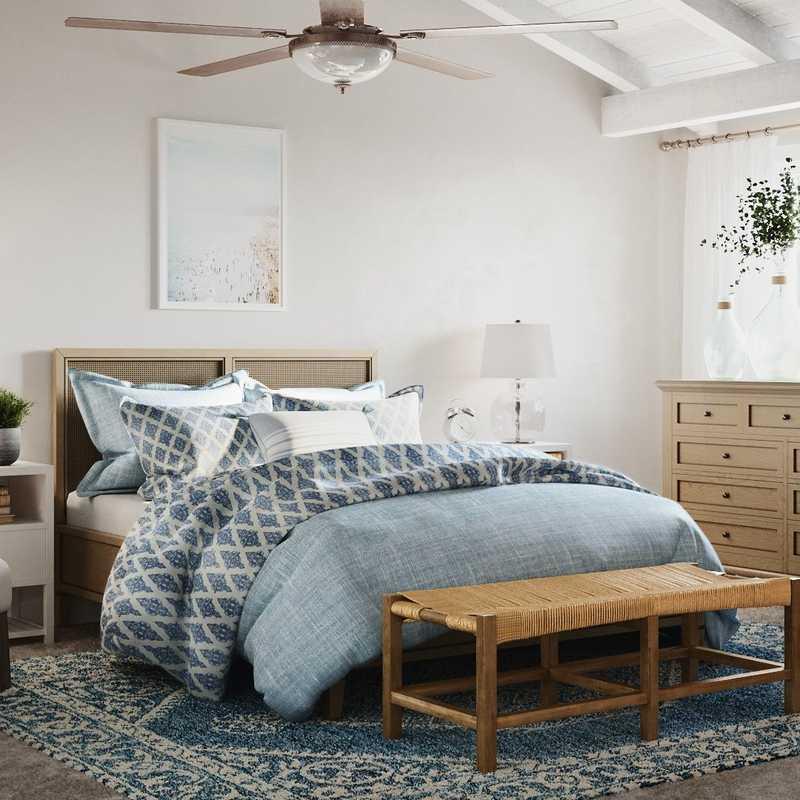 Classic, Coastal, Transitional, Preppy Bedroom Design by Havenly Interior Designer Lisa