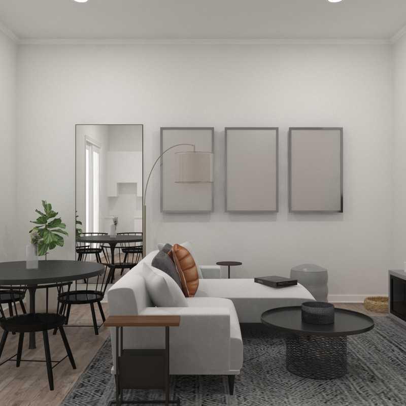 Contemporary, Modern, Industrial Living Room Design by Havenly Interior Designer Delia