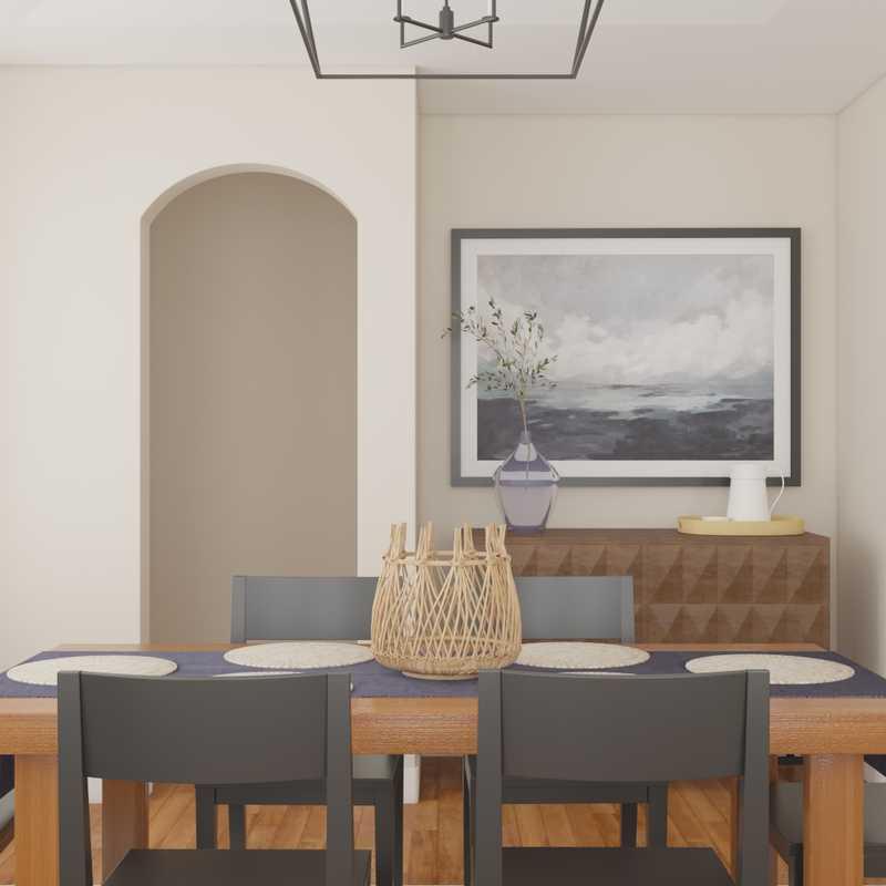 Bohemian, Coastal, Farmhouse Dining Room Design by Havenly Interior Designer Kristina