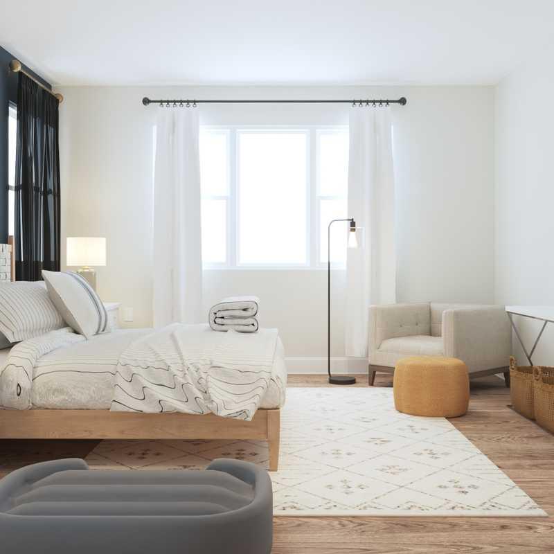 Farmhouse, Rustic, Transitional Bedroom Design by Havenly Interior Designer Elle