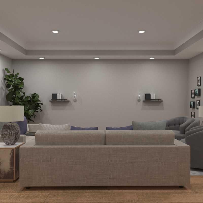 Contemporary, Coastal, Glam, Industrial Living Room Design by Havenly Interior Designer Nina