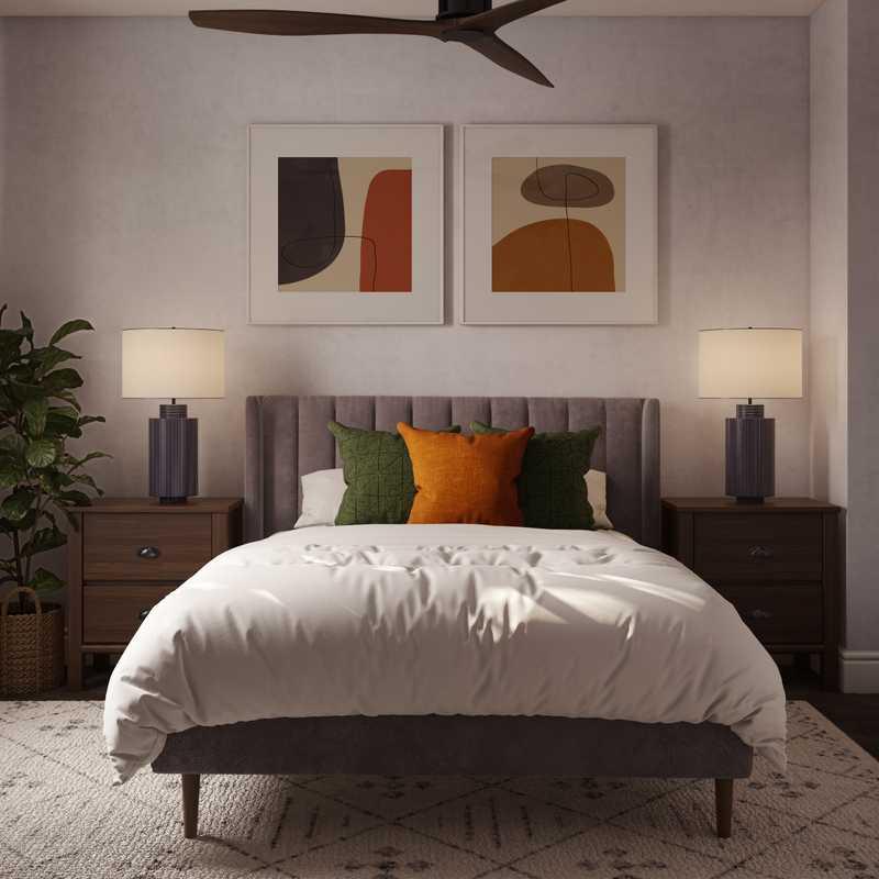 Modern, Midcentury Modern, Scandinavian Bedroom Design by Havenly Interior Designer Briana