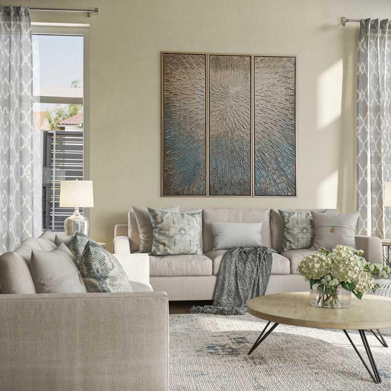 Classic, Coastal Living Room Design by Havenly Interior Designer Anna