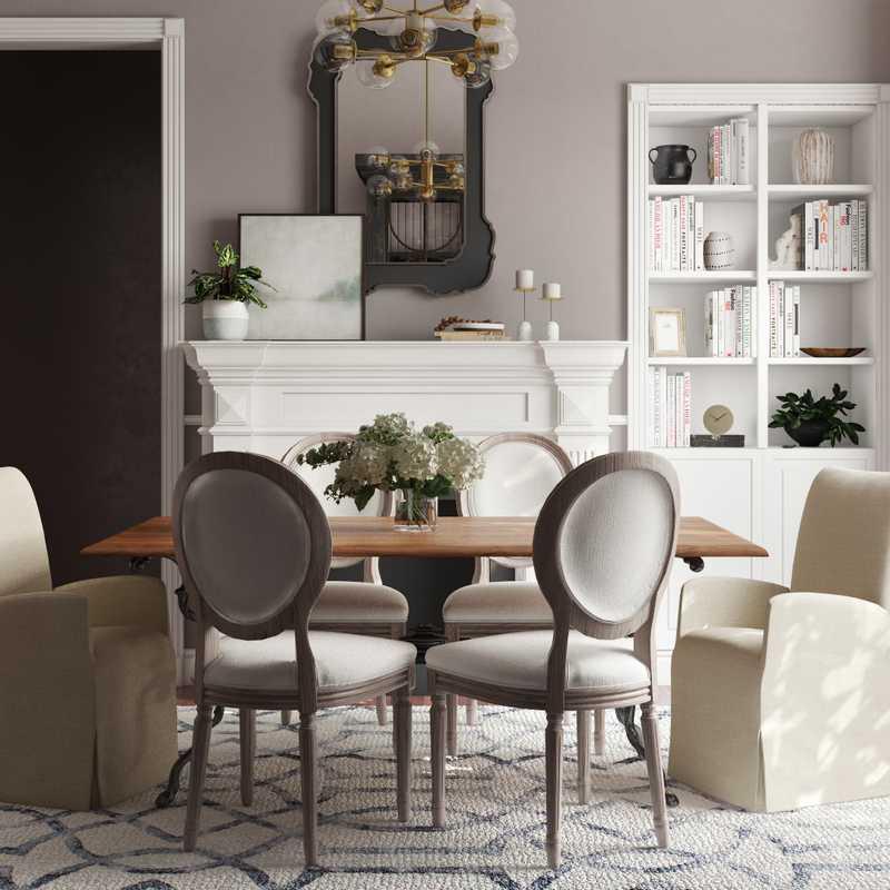 Modern, Classic Dining Room Design by Havenly Interior Designer Kate