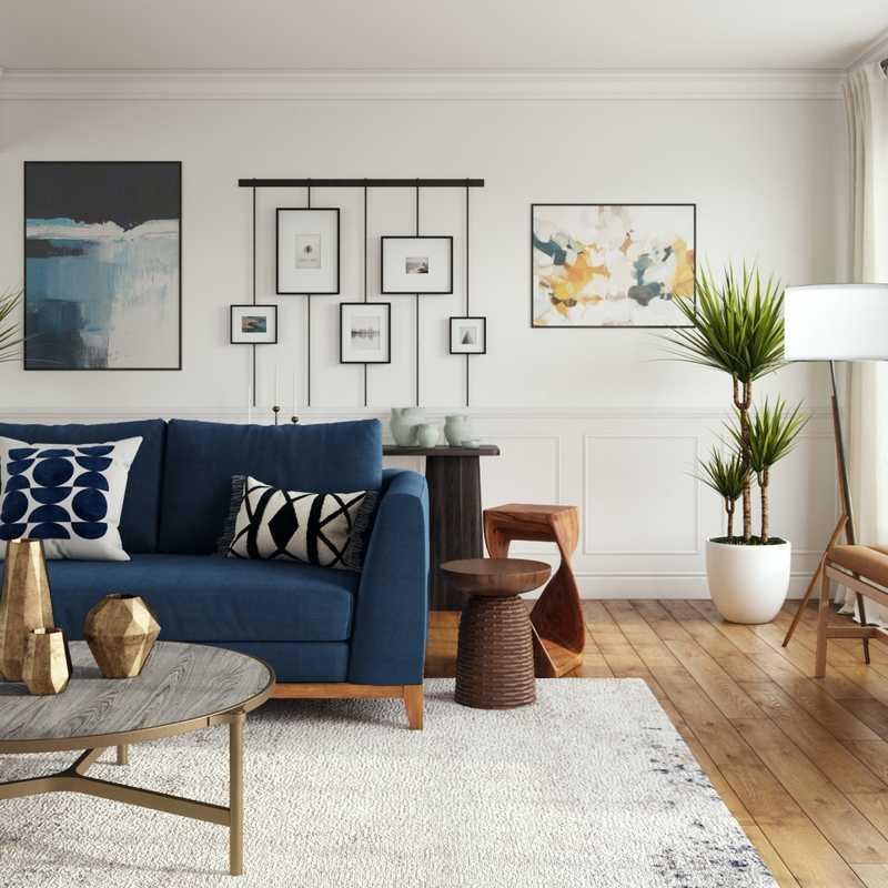 Midcentury Modern Living Room Design by Havenly Interior Designer Hadasa