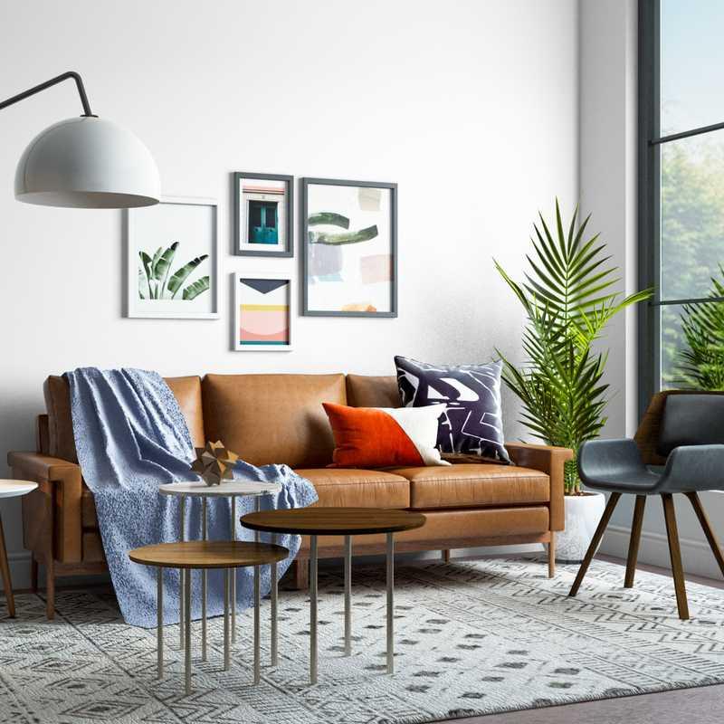 Modern, Eclectic, Bohemian, Industrial, Global, Midcentury Modern Bedroom Design by Havenly Interior Designer Marina