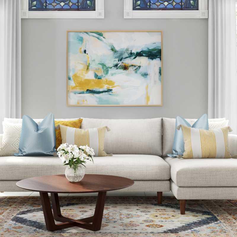 Midcentury Modern, Scandinavian Living Room Design by Havenly Interior Designer Ariadna